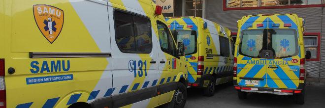 ambulancias del SAMU Metropolitano